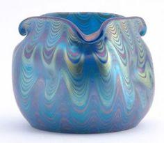 Beautiful Loetz.  Heavenly blue and purple tints!