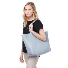 Cuyana Classic Leather Tote Dusk Blue
