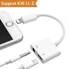 2 en 1 Lightning Audio Earphone Câble Adaptateur Chargeur Pour Apple iPhone X, iPhone 8/ 8 Plus.iPhone 7 / 7 Plus. Adapter casque de musique Vers 3,5 mm Casque éCouteurs.(Prise En Charge Audio + Charge + iOS 10.3/11.)- Blanc - https://streel.be/2-en-1-lightning-audio-earphone-cable-adaptateur-chargeur-pour-apple-iphone-x-iphone-8-8-plus-iphone-7-7-plus-adapter-casque-de-musique-vers-35-mm-casque-ecouteurs-prise-en-charge-audio-charg/