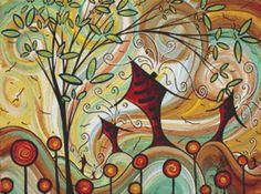 Modern Cross Stitch Pattern By MADART - 'Fire Poppies'