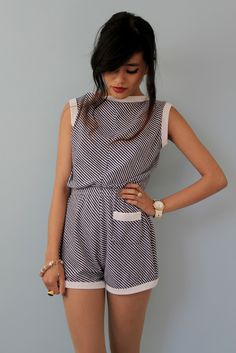 I normally don't like rompers, but this one's pretty cute Cute Rompers, Rompers Women, Jumpsuits For Women, Style Outfits, Summer Outfits, Cute Outfits, Fashion Outfits, Petite Jumpsuit, Mode Lookbook