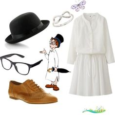 John Darling, Polyvore John Darling, Polyvore by jboothyy on Polyvore featuring Uniqlo and Office<br> A fashion look from June 2013 featuring three quarter length sleeve dresses, flat lace-up shoes and infinity jewelry. Browse and shop related looks. Peter Pan Play, Peter Pan Jr, Peter Pan Movie, Peter Pan Outfit, Peter Pan Dress, Disney Inspired Outfits, Disney Outfits, Movie Outfits, Disney Clothes