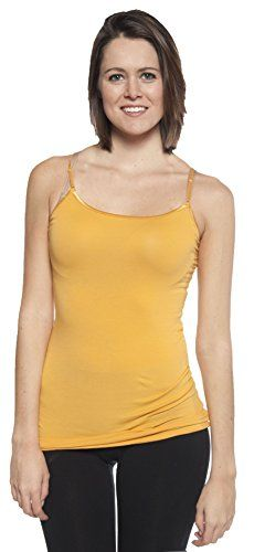 Active USA Basic Women's Basic Cami Tank Top (Mustard) - http://our-shopping-store.com