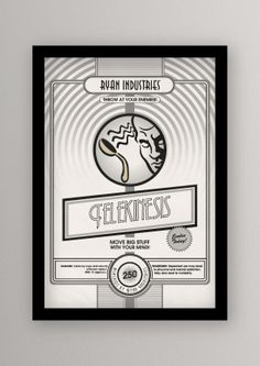 BioShock - Plasmid Posters by Andy Gimson  (OK, So I may have this fantasy about building a geek themed gaming room/bar area in my future home...this is the type of stuff I intend to collect!)