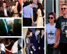 Rob & Kristen holding hands. <3 :')