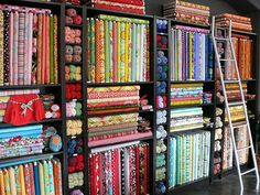 I like the yarns and fabrics together. | Flickr - Photo Sharing!