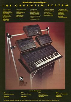 Oberheim DX / DMX / DSX / OB-8 Anzeige 1984
