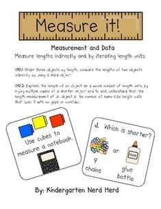 First Grade: Measure It! Students will use non-standard measurement as they measure various items in the classroom using unifix cubes and math links. First Grade Measurement, Measurement Kindergarten, Math Measurement, Kindergarten Math, First Grade Classroom, 1st Grade Math, Math Classroom, Grade 1, Fun Math