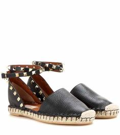 Rockstud Double leather espadrilles | Valentino