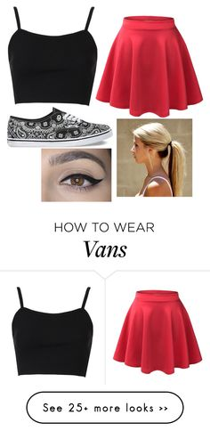 """Untitled #148"" by dontbeabish on Polyvore featuring Vans, Topshop and LE3NO"