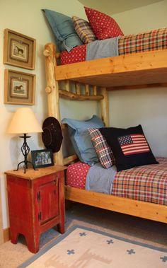 log bunk beds