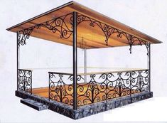 Pergola Above Garage Door Metal Furniture, Garden Furniture, Eisen Pergola, Gazebos, Garden Design, House Design, Iron Work, Iron Gates, Iron Decor