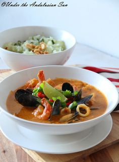 Red fish curry - with DIY red curry paste!