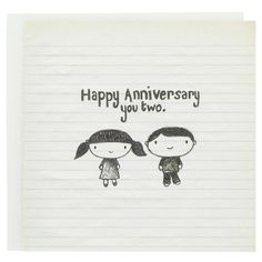 happy anniversary you two card - Modern Anniversary Quotes For Couple, Anniversary Quotes For Parents, Anniversary Wishes For Friends, Happy Wedding Anniversary Wishes, Anniversary Greetings, Happy Birthday Sister, Happy Birthday Funny, Funny Happy, Illustrations Vintage