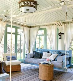 cute porch with swing