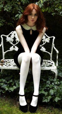 Karen Gillan stars as Nebula in Guardians of the Galaxy Karen Gillan, Karen Sheila Gillan, Beautiful Celebrities, Beautiful Actresses, Gorgeous Women, Pantyhosed Legs, White Tights, Gorgeous Redhead, Redhead Girl