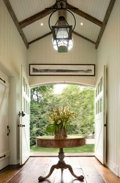 New England carriage house. David Scott Parker Architects,...This fits but I would replace  with a barrel ceiling like we have in the dome connect.
