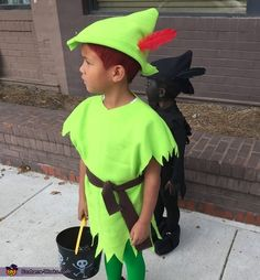 I Love This!!!  Peter Pan and his Shadow - Halloween Costume Contest via @costume_works