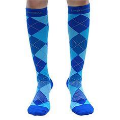 Compression Socks (1 Pair) 20-30mmHg Graduated - Best For Running, Athletic Sports, Crossfit, Flight Travel (Men & Women) - Suits Nurses, Maternity Pregnancy, Shin Splints - Below Knee High Socks