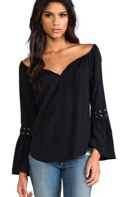 VAVA COWGIRL GYPSY Peasant BLACK Tunic Shirt Top Western Boho  Bell Sleeve SMALL #VAVABYJOYHAN #Tunic