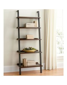 Ladder Bookcase, put printer on it and office stuff
