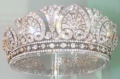 The Devonshire Diamond Tiara - 1893 when AE Skinner & Co made it for Louise, Duchess of Devonshire. Louise passed on the tiara to Evelyn, wife of the 9th Duke of Devonshire, who then gave it to her daughter-in-law, Mary. It was last worn by her daughter-in-law, Deborah, Duchess of Devonshire. 1,900 diamonds set in gold and silver, 1,041 of which were taken from other family pieces.