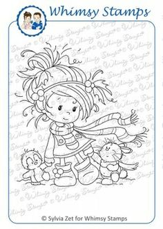 Winter Friends by Sylvia Zet for Whimsy Stamps