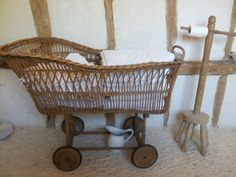 My bathroom. A vintage french crib to put my towels in and an old washing dolly for a loo roll holder!