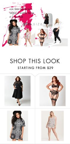 """plus size"" by mariapizzuto on Polyvore featuring moda, Missguided, Torrid e plus size dresses"