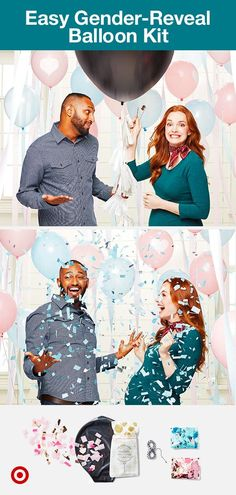Share Baby's gender with the easy-to-use Jumbo Gender Reveal Balloon Kit—no specialty store needed. Celebrate under a shower of sparkling confetti with this giant confetti balloon kit. Confetti Balloon Gender Reveal, Gender Reveal Party Games, Gender Party, Baby Shower Gender Reveal, Reveal Parties, Baby Shower Themes, Simple Gender Reveal, Gender Announcements, Baby Time