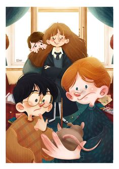 Harry Potter on Behance Cute Harry Potter, Harry Potter Anime, Harry Potter Universal, Harry Potter World, Harry Potter Memes, Potter Facts, Wallpaper Harry Potter, Harry Potter Artwork, Harry Potter Drawings