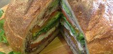 Rustic Mediterranean Sandwich   Rachel Allen Rachel Allen, Breakfast Snacks, Looks Yummy, Sandwich Recipes, International Recipes, Finger Foods, Sandwiches, Mad, Savoury Pies