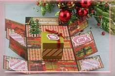 Jinky's Crafts & Designs: Christmas Explosion Box In A Box - 3rd Day of Christmas