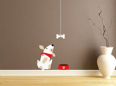 Poor Puppy Dog Just Wants His Bone Vinyl Wall by StreamlineDesign, $18.95