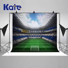 Football Stadiums Sunny Sky Photography Backdrops Indoor Photo