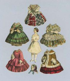 Five First Series McLoughlin Bros. Cut Paper Dolls
