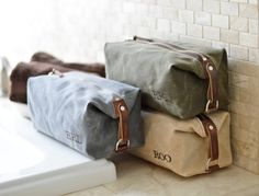 NO. 345 Handmade Men's Toiletry Travel Bag in by SivaniDesignsShop