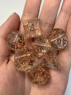 Handmade glitter and sprinkle polyhedral dice sets for role play and table top gaming such as dungeons and dragons, magic the gathering, etc. Cool Dnd Dice, Dungeons And Dragons Dice, Dark Moon, Holographic Glitter, Magic The Gathering, Goblin, Light In The Dark, Decir No, Geek Stuff