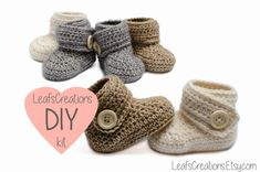 DIY kit / Crochet kit / DIY crochet kit baby by LeafsCreations