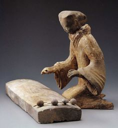 Pottery musician, 2nd century BC, Western Han Dynasty.