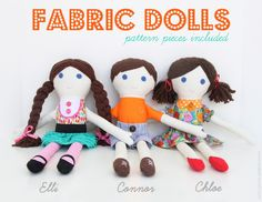 Fabric dolls with free pattern
