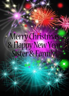Merry Christmas & Happy New Year, Brother & Sister-in-law, Fireworks card. Personalize any greeting card for no additional cost! Cards are shipped the Next Business Day.