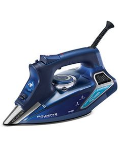 Rowenta Steam Force Professional Electronic Steam Iron with Stainless Steel Soleplate, Blue. For powerful steam and professional-quality results, turn to the Rowenta SteamForce steam iron.