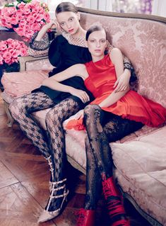 Codie Young & Rosemary Smith by Nicole Bentley for <em>Vogue Australia</em> October 2010