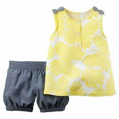 Baby Girl Clothes at Macy's come in a variety of styles and sizes. Shop Baby Girl Clothing at Macy's and find newborn girl clothes, toddler girl clothes, baby dresses and more. Little Girl Outfits, Toddler Girl Outfits, Kids Outfits, Cute Outfits, Toddler Girls, Carters Baby Girl, Baby Girl Newborn, Baby Girls, Baby Yellow