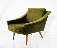 olive green lounge chair designed by Adrian Pearsall and made by Craft Associates. The White Pepper shop