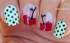 #Cherry #Nailart With #Polkadot