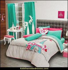 Decorating theme bedrooms - Maries Manor: Pink Poodles of fun bedroom decorating - paris style decorating ideas - French theme Paris apartment furniture - decor Paris style