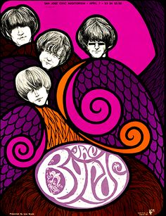 Byrds concert poster at the San Jose Civic Auditorium, 1967