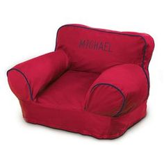 Red and Navy Bean Bag Chair Kit | Lillian Vernon     Great for kid's playrooms!